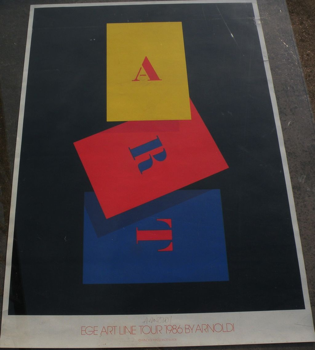 CHARLES ARNOLDI (1946-) colorful offset poster by the noted California contemporary artist with complementary signature