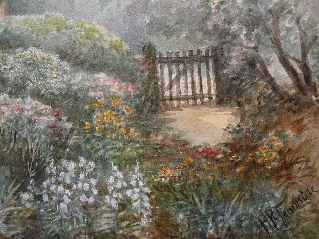 Circa 1900 Antique Signed Watercolor Painting Of A Cottage
