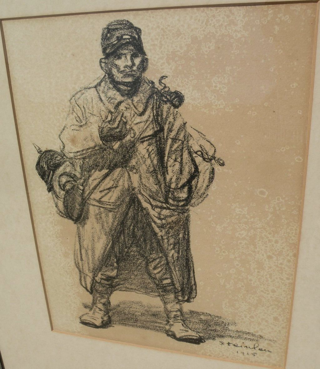 THEOPHILE-ALEXANDRE STEINLEN (1859-1923) lithograph print of WWI subject dated 1915‏