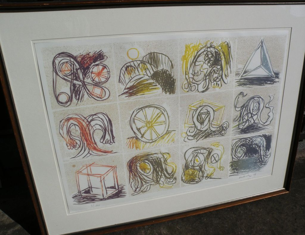 PIERRE ALECHINSKY (1927-) CoBra post war modern art major artist signed numbered limited edition 1969 lithograph print