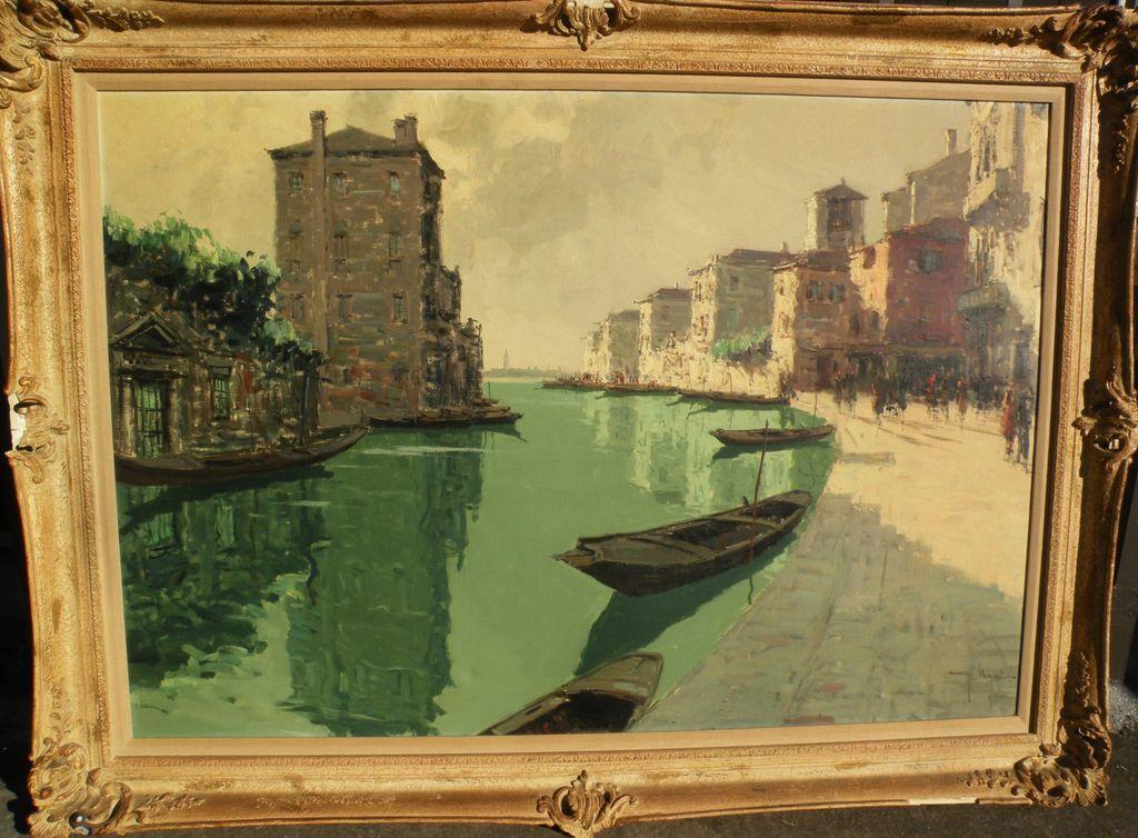 Giuseppe Marino 1916 1975 Italian Impressionist Painting