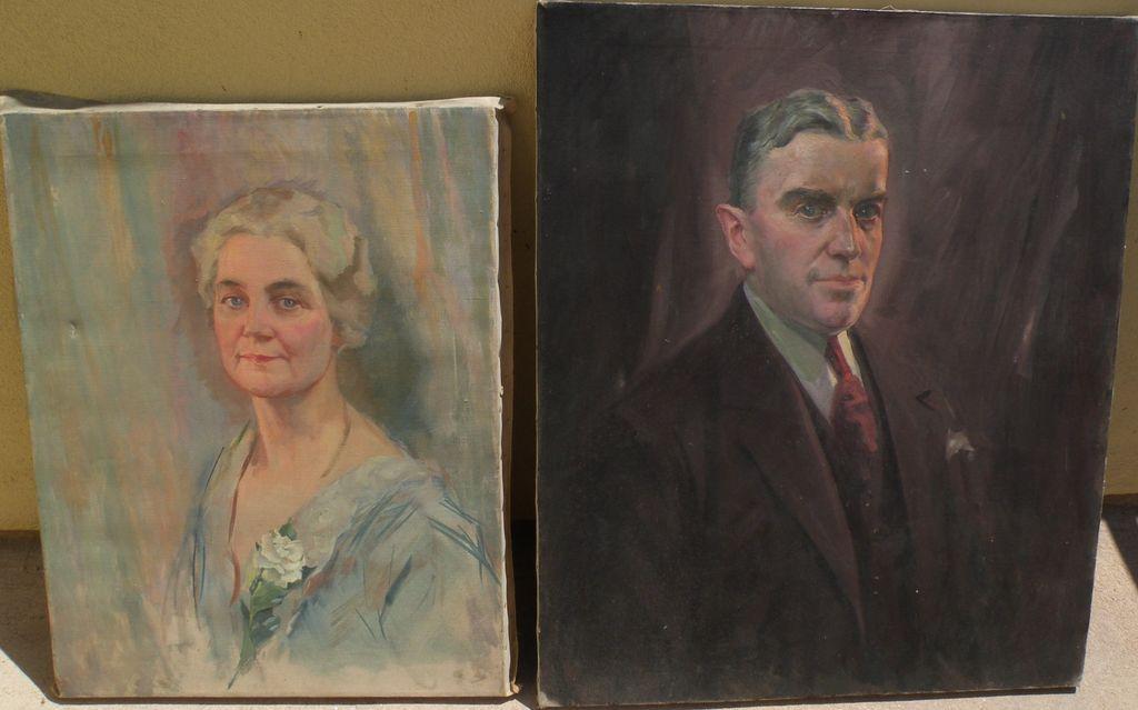 EDWARD A. CUCUEL (1875-1954) **PAIR** of portrait paintings by American-German master artist