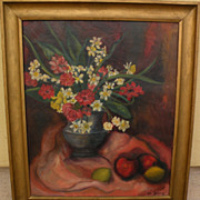 HELEN DEDEAUX (1915-2007) listed California art still life oil painting