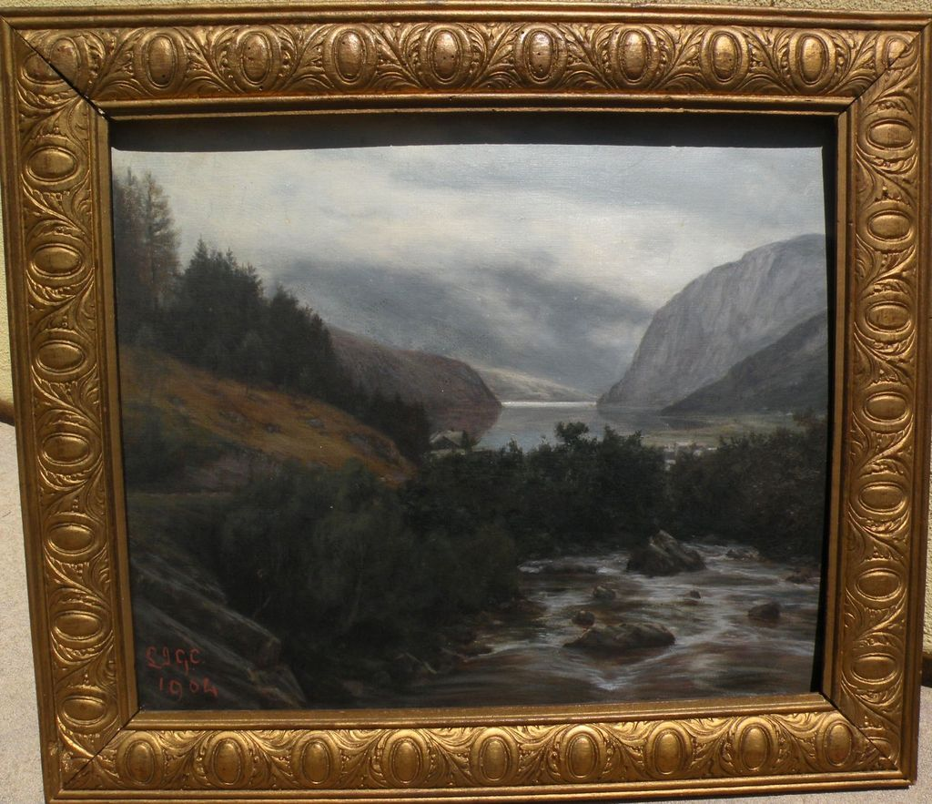 Landscape Painting Likely By Welsh Artist Dated 1904