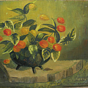 "American mid century still life painting signed ""Chatterton"""