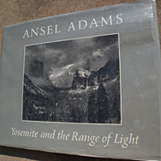 """ANSEL ADAMS (1902-1984) signed book """"Yosemite and the Range of Light"""" 1981"""
