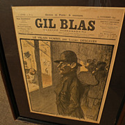 THEOPHILE-ALEXANDRE STEINLEN (1859-1923) original two-sided Gil Blas Parisian periodical cover from 1897