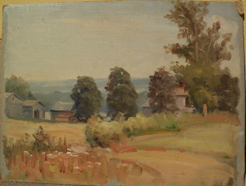 American impressionist vintage landscape painting