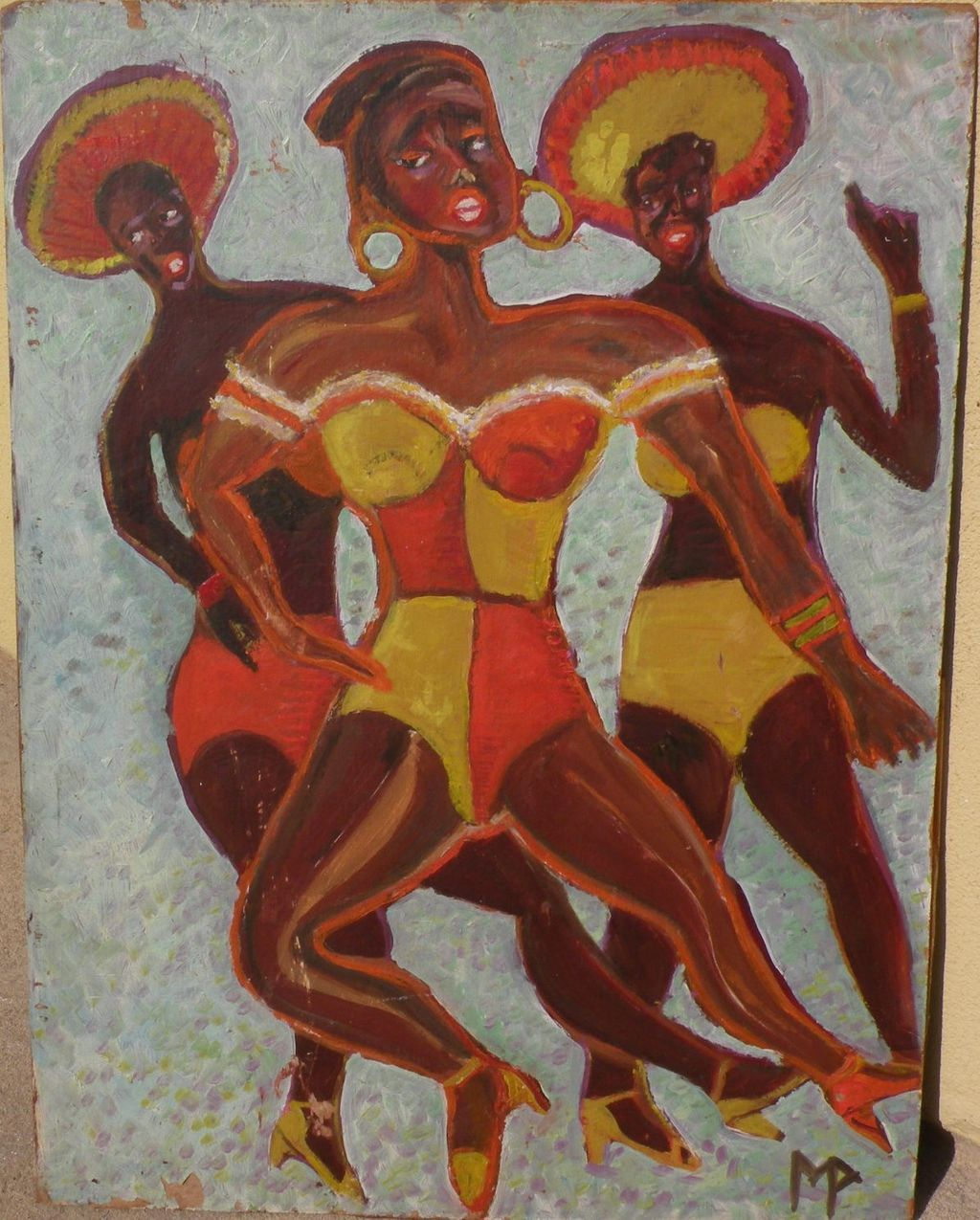 Colorful painting of black female dancers