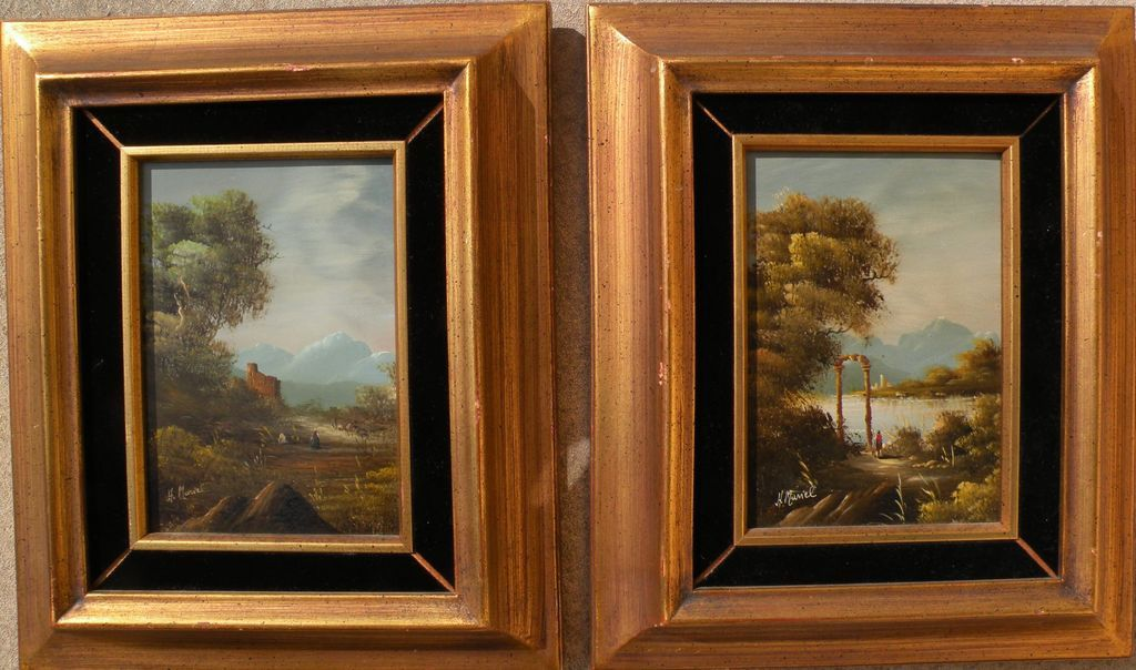 PAIR decorative paintings in the classical style