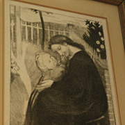 MAURICE DENIS (1870-1943) pencil signed limited edition lithograph by major French Symbolist artist