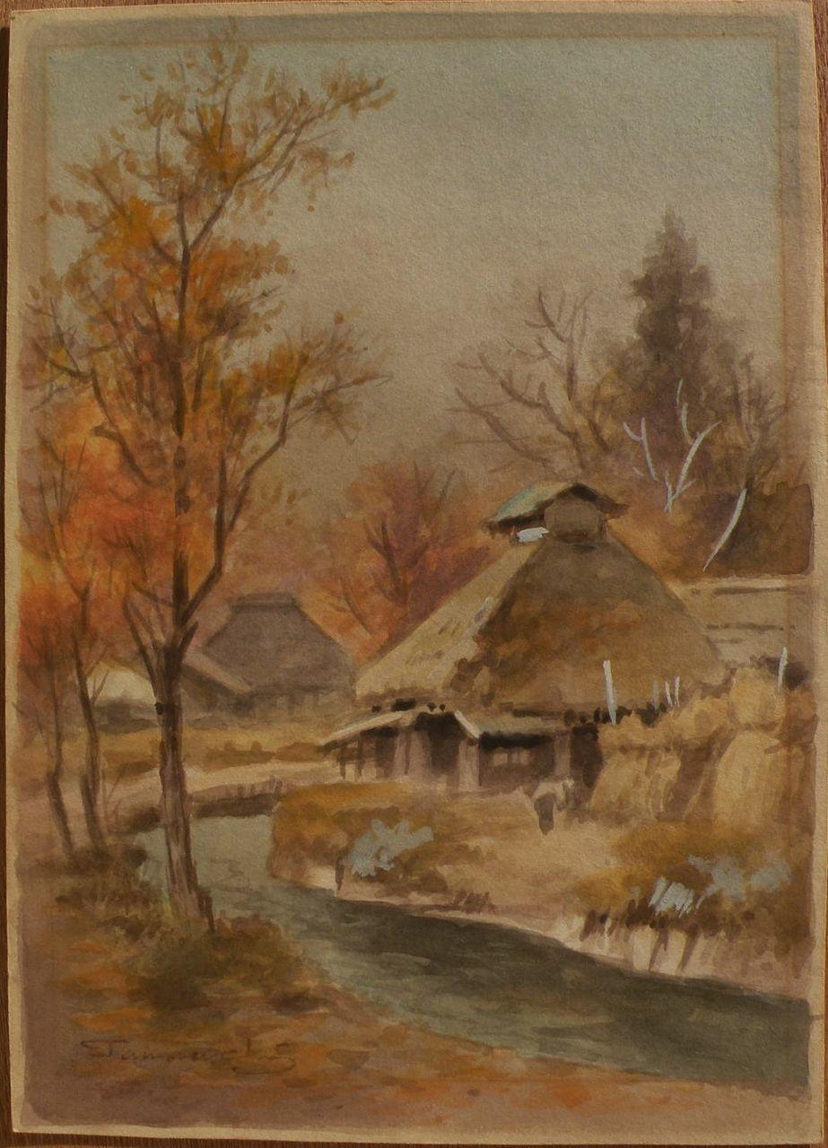 fukutaro terauchi 1891 japanese watercolor landscape