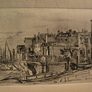 "JAMES ABBOTT McNEILL WHISTLER (1834-1903) restrike of 1859 etching ""Thames Police"""