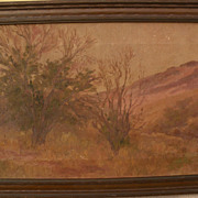 S.J. TUJAGUE impressionist landscape painting by Louisiana and California artist