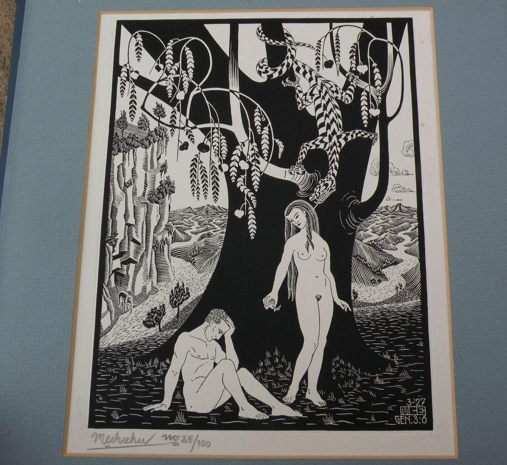 """Print """"The Fall of Man"""" after M.C. ESCHER (1898-1972)"""