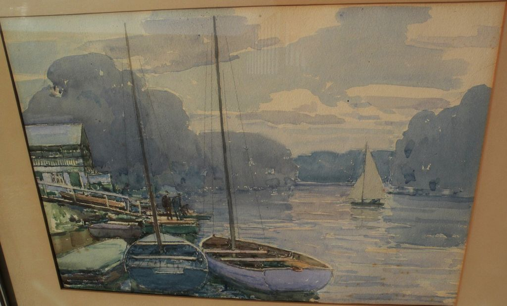 Fine vintage watercolor possibly by English artist Alfred John Billinghurst (1880-1963)