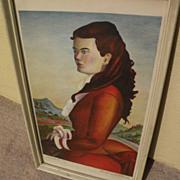 BUELL WHITEHEAD (1919-1993) Florida regionalist art pencil signed lithograph print
