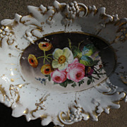 Hand painted ceramic bowl early 20th century or earlier