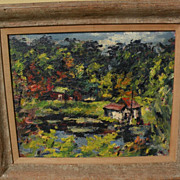 DAN LUTZ (1906-1978) modernist California art by well listed artist
