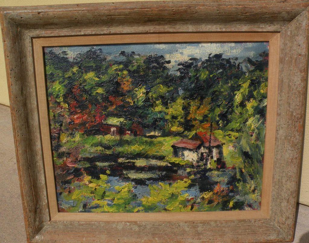 DAN LUTZ (1906-1978) modernist California art by well listed artist