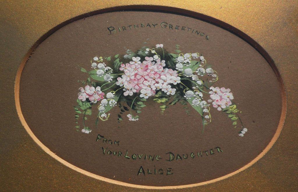 Circa 1900 Americana handmade birthday tribute from daughter to her mother