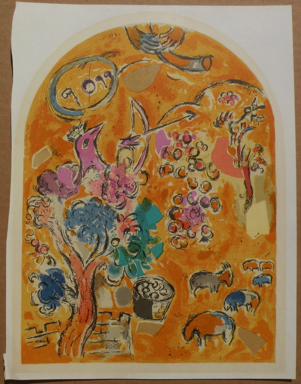"MARC CHAGALL (1887-1985) original lithograph print ""The Tribe of Joseph"" from The Jerusalem Windows series"