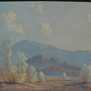 JOHN WILLIAM HILTON (1904-1983) plein air California art fine desert landscape painting