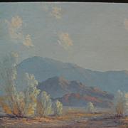 JOHN WILLIAM HILTON (1904-1983) plein air California art fine desert landscape painting