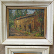 HARRY JAMES OSHIVER (1888-1974) pair of impressionist landscape paintings by listed Philadelphia artist
