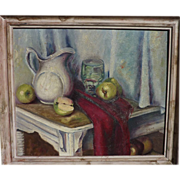 ALICE GAFFORD (1886-1981) Impressionist still life painting by listed African-American California artist
