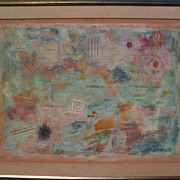 Contemporary mid century abstract modern signed large painting after Robert Natkin