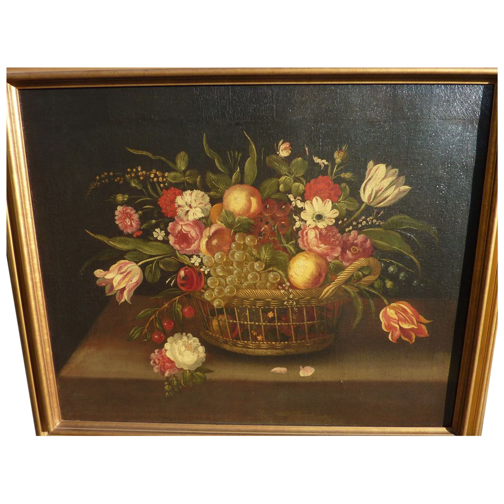 Circa mid 19th century French table top still life