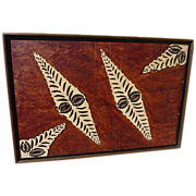 South Pacific islands tapa cloth painting‏