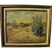 California plein air art desert painting signed Helen Hausman
