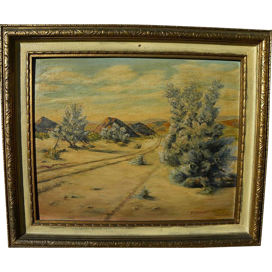 California plein air art desert painting signed Helen Hausman