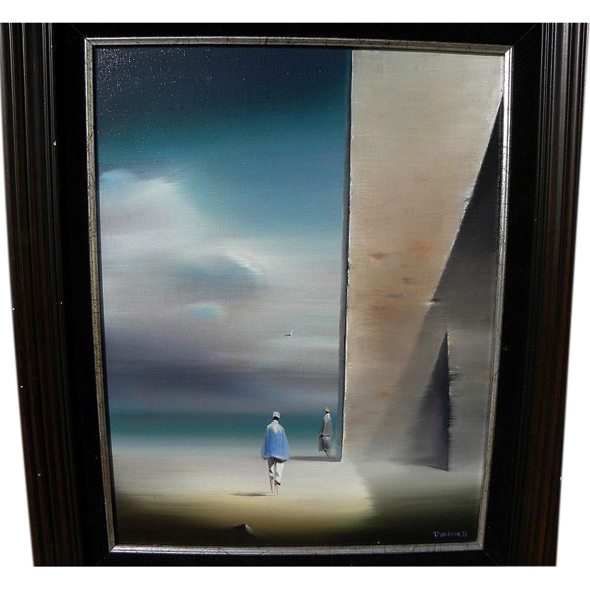 ROBERT WATSON (1923-2004) dream-like painting by the modern surrealist master artist