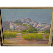 GEORGE BARKER, JR (1882-1965) California plein air art 1926 impressionist desert landscape painting