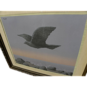 """RENE MAGRITTE (1898-1967) color lithograph """"L'Idole"""" of 1965 signed in pencil by wife or estate"""
