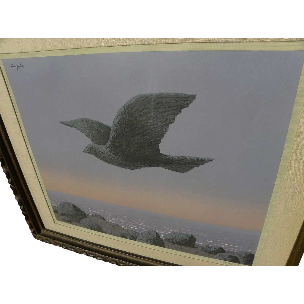 "RENE MAGRITTE (1898-1967) color lithograph ""L'Idole"" of 1965 signed in pencil by wife or estate"