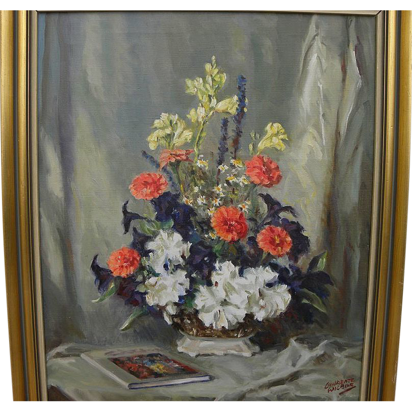 LAWRENCE WILBUR (20th century American) impressionist still life by well known New York area illustrator