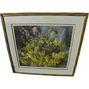 HENRIETTE WYETH (1907-1997) pencil signed limited edition collotype print of wildflowers painting