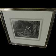 "After WILLIAM COLLINS (1788-1847) fine framed engraving ""The Woodland Gate"""