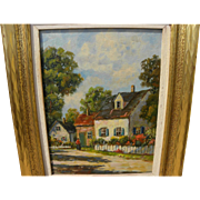 FRANCES H. McKAY (c. 1880-?) American impressionist art New England village painting