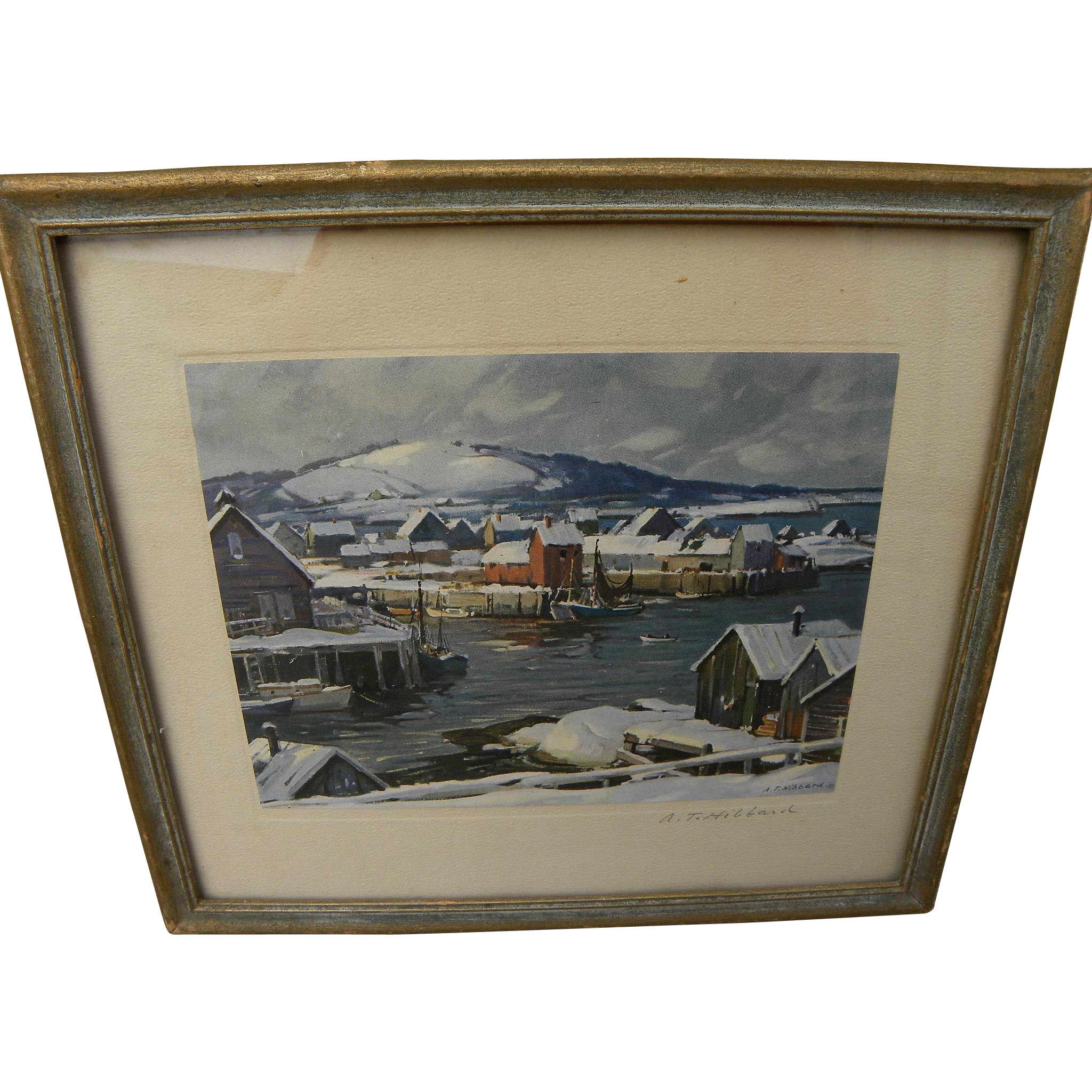 ALDRO THOMPSON HIBBARD (1886-1972) pencil signed print by important New England plein air painter