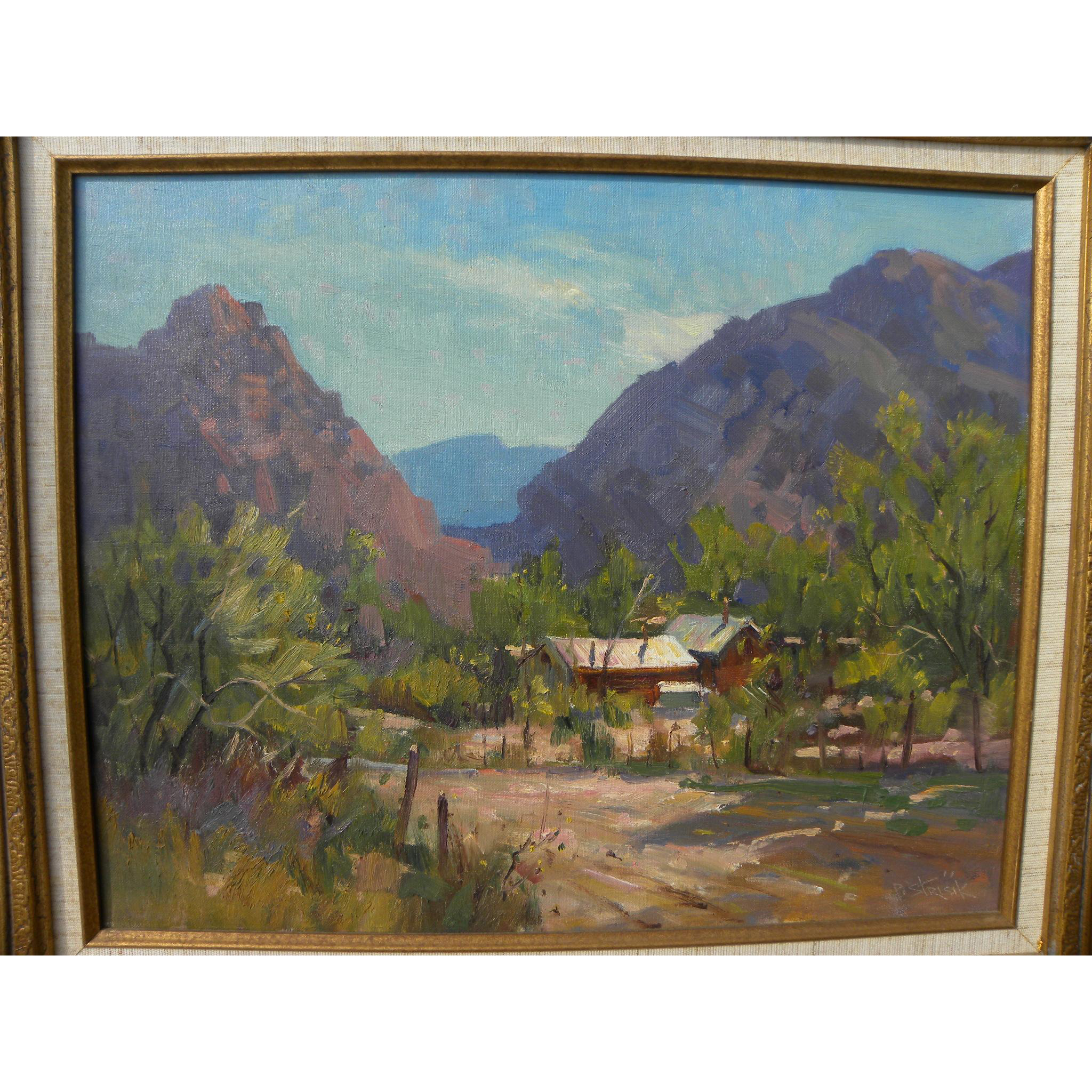 PAUL STRISIK (1918-1998) Southwestern landscape painting by the American plein air artist