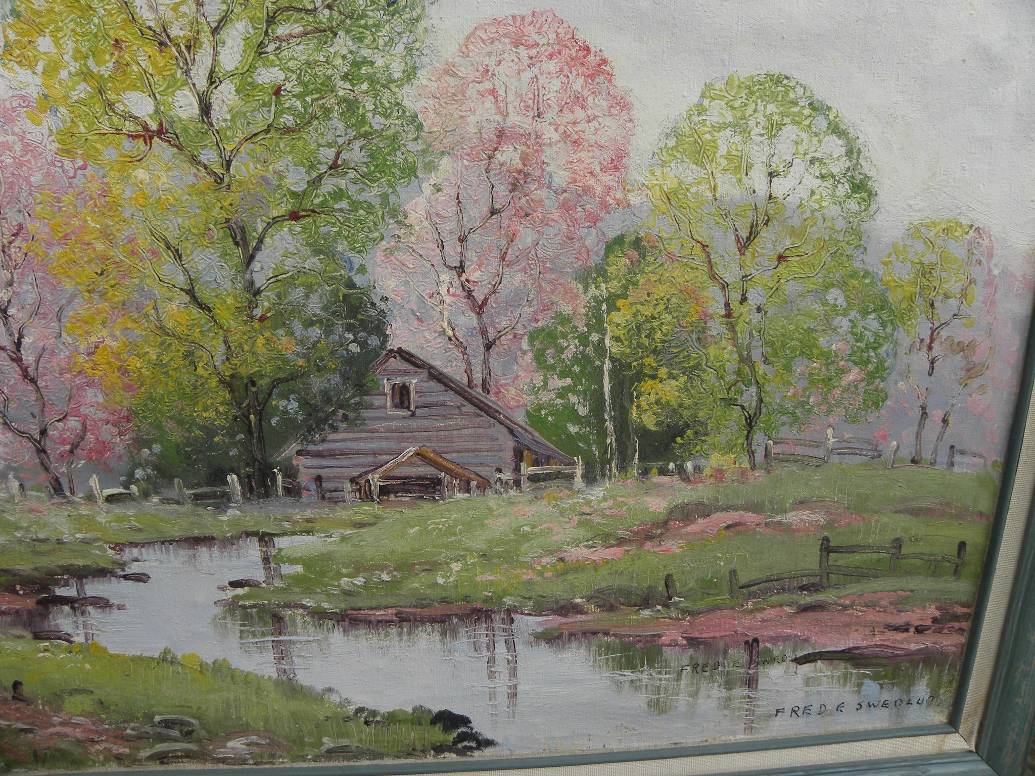 spring motif painting landscape - photo #37