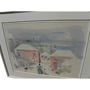 ALFRED BIRDSEY (1912-1996) original watercolor painting by noted Bermuda artist