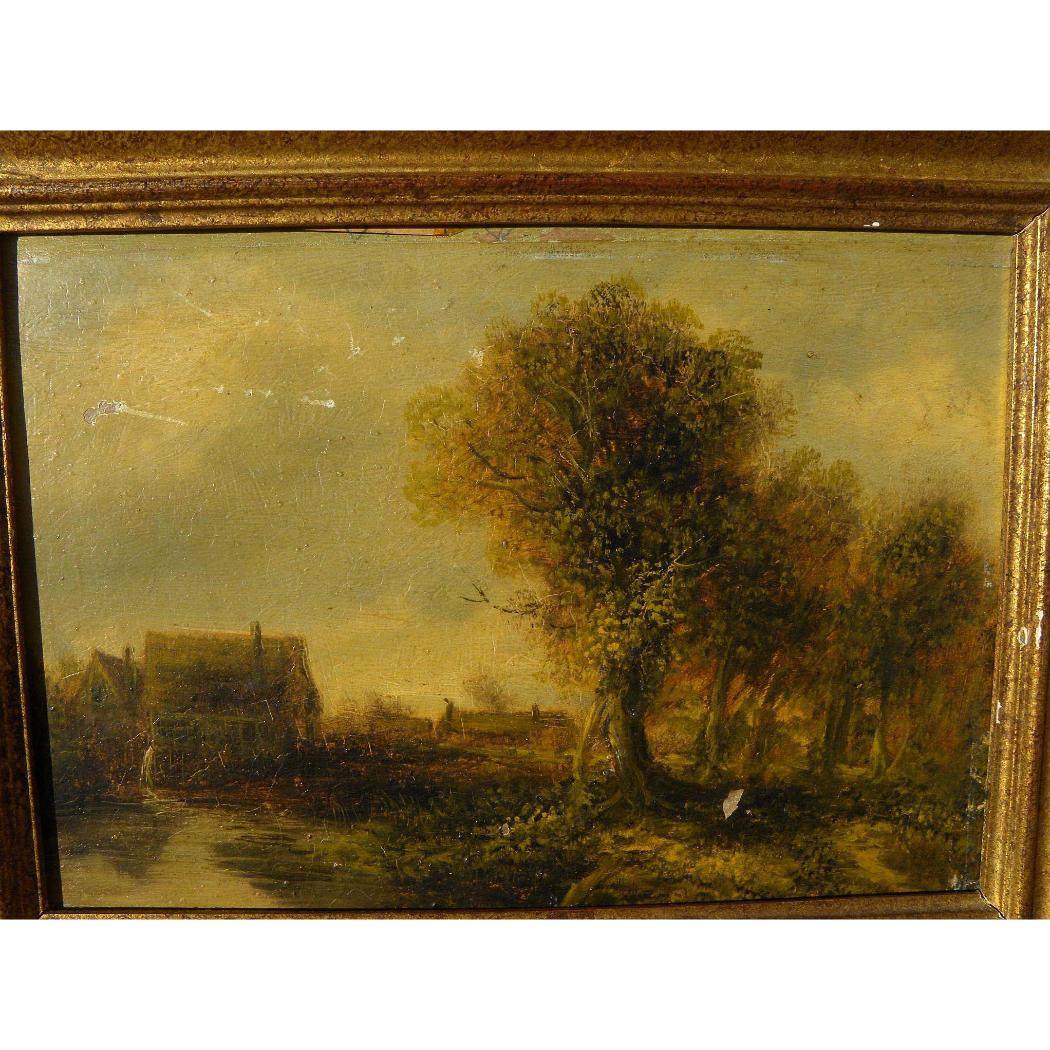 Nineteenth Century Tonalist Landscape Painting After Old