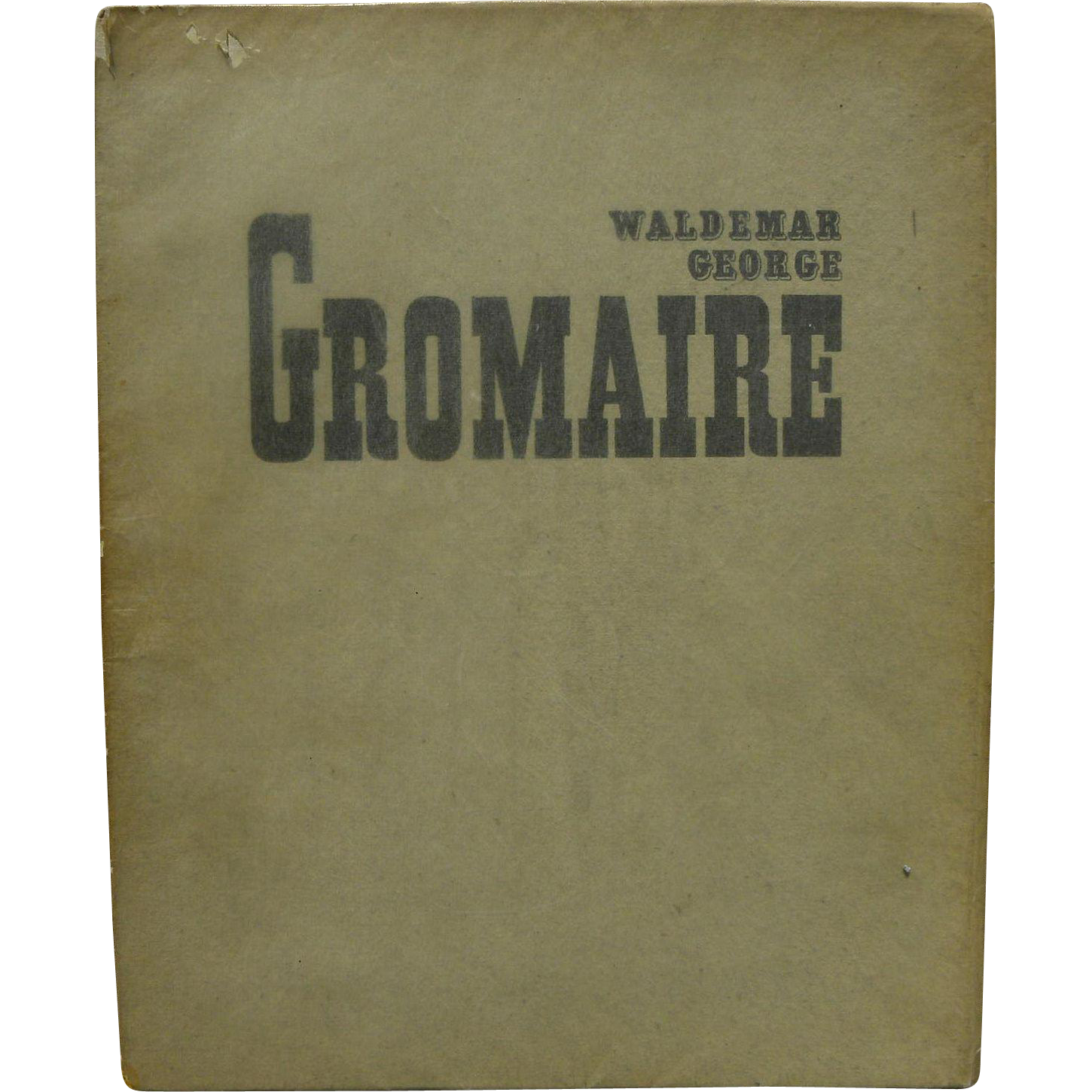 "1928 limited edition French book about the modernist Deco period artist (Marcel) ""GROMAIRE"""