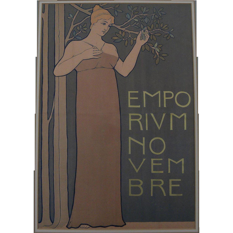 Emporium Novembre circa 1918 small poster by artist Pierre Ori